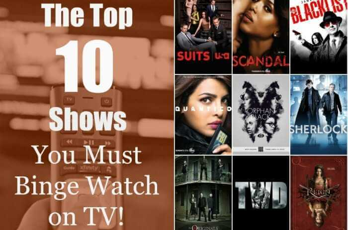 Top Ten TV Shows for the Summer